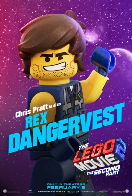 Official LEGO® Movie 2 Rex poster.