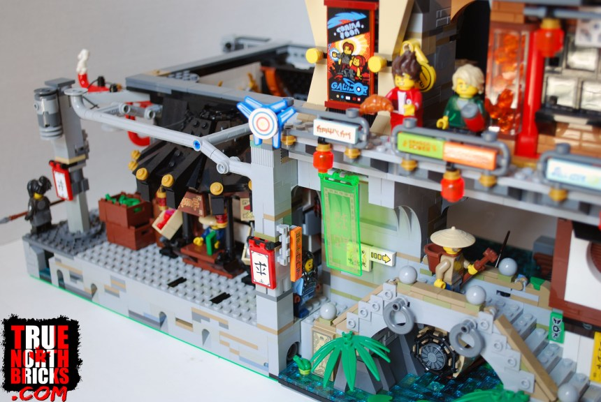 The first level of my custom project joined to the Ninjago City set.