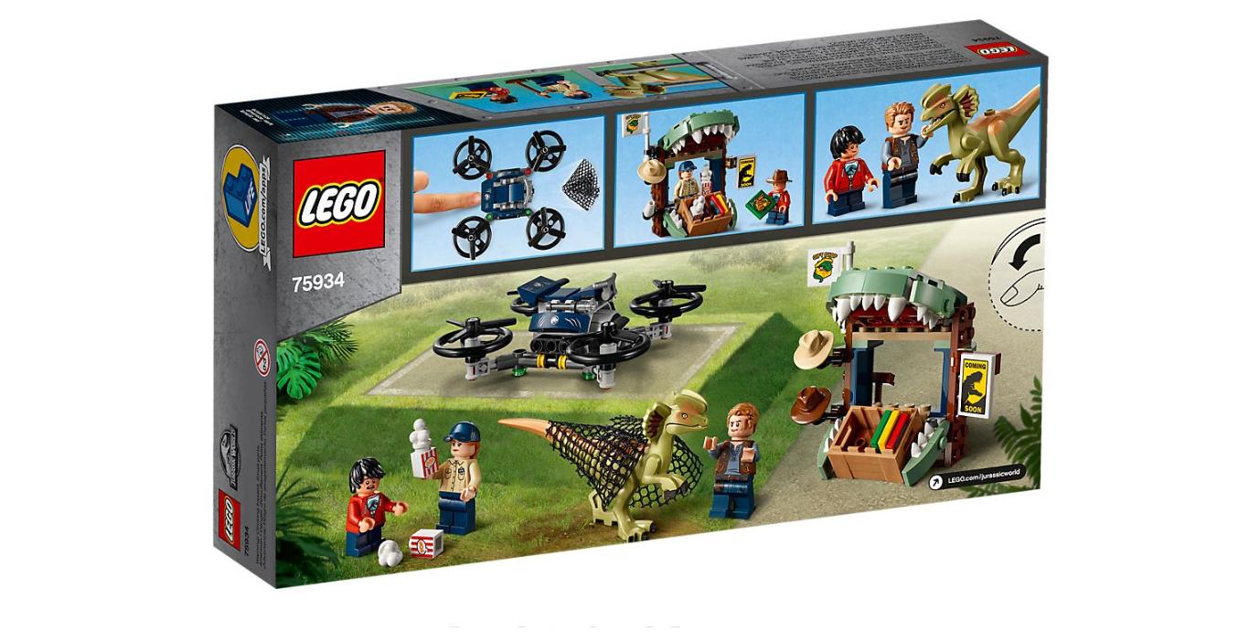 New 2019 LEGO Jurassic World Dilophosaurus on The Loose 75934 Building Kit 168