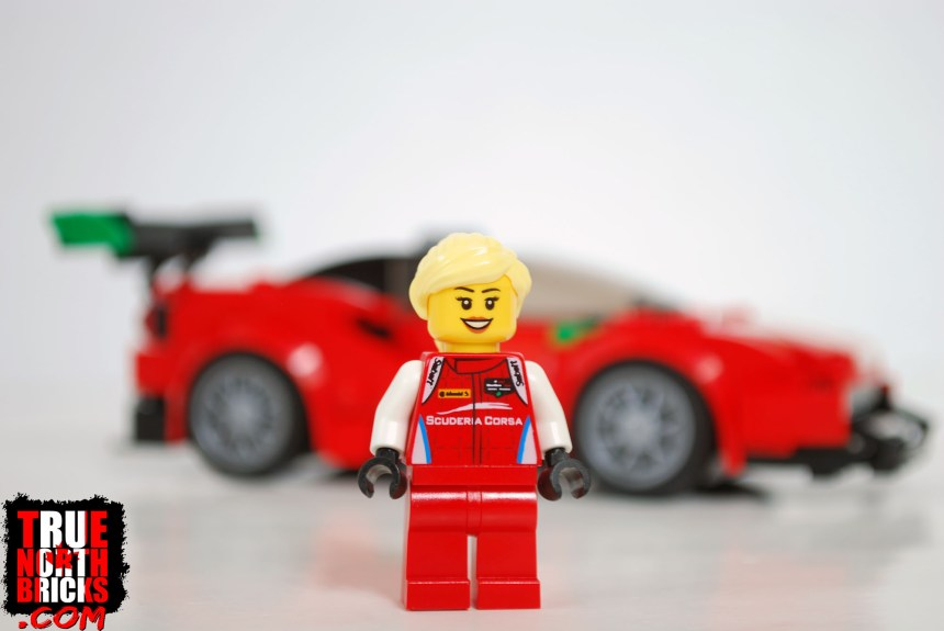 Front view of driver Minifigure.