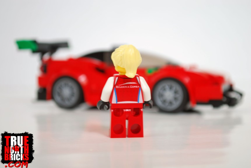 Rear view of driver Minifigure.