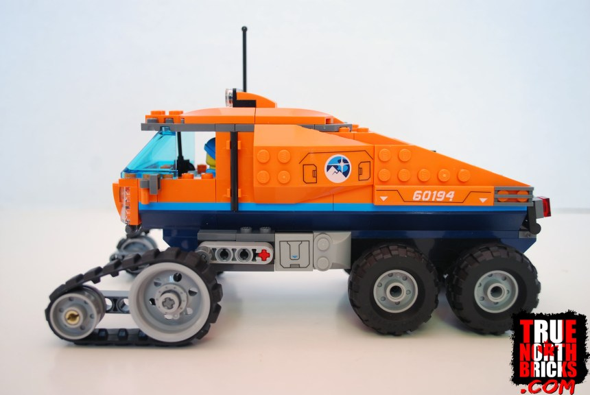 Side view of the Arctic Scout Truck.