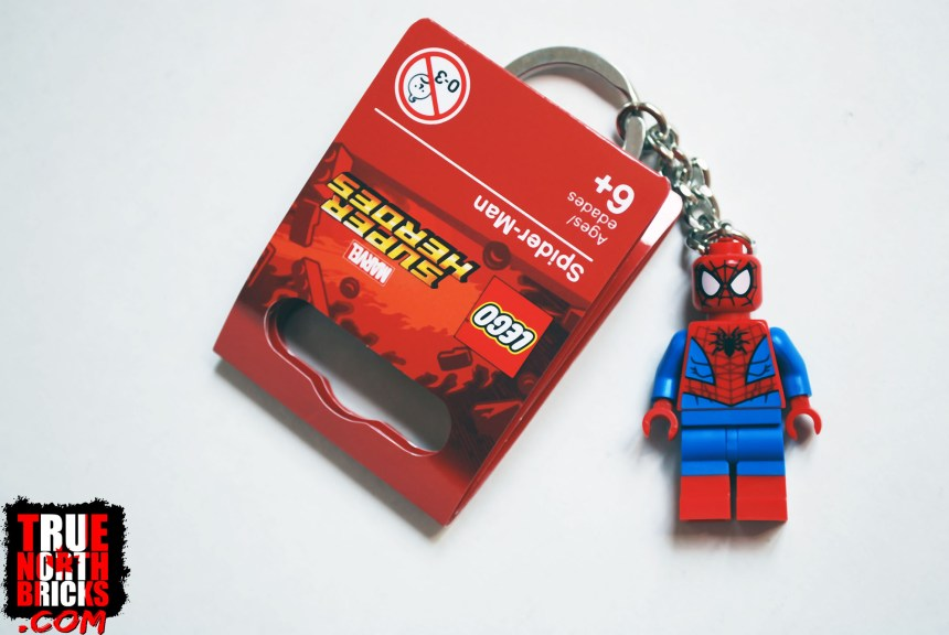 Spider-Man key chain that was turned into a Minifigure.