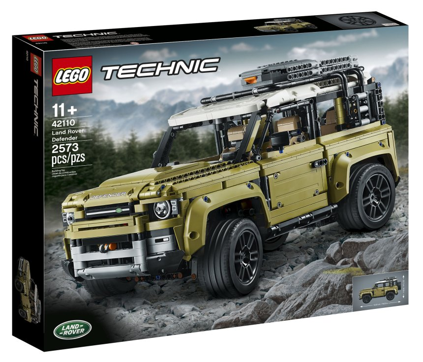 Land Rover Defender (42110) box art.