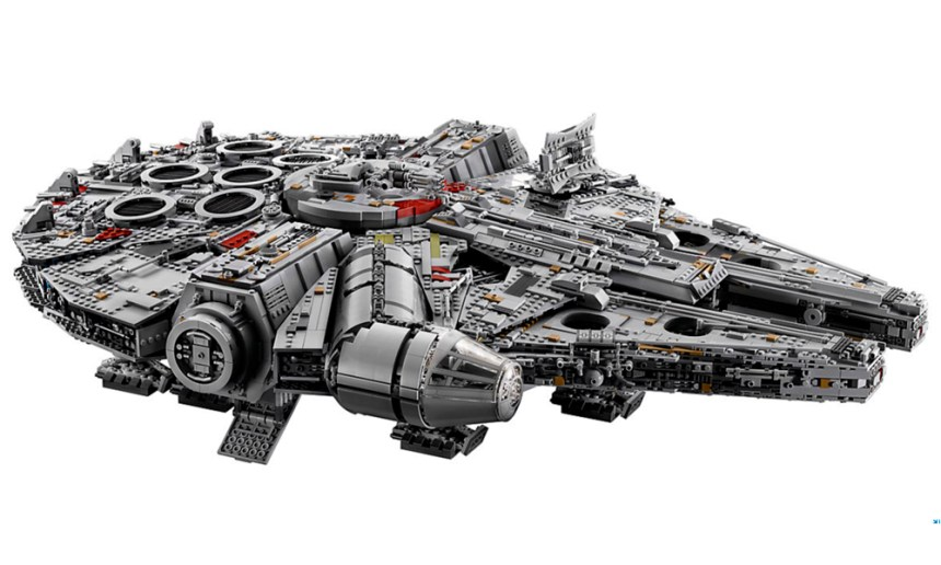 The biggest LEGO set ever produced, the Millennium Falcon.