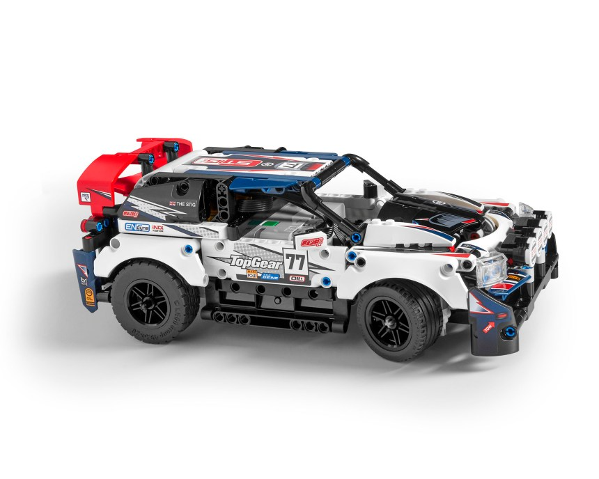 Side view of Technic Top Gear Rally Car
