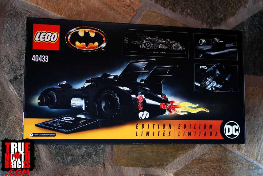 1989 Batmobile (Limited Edition) rear box art.