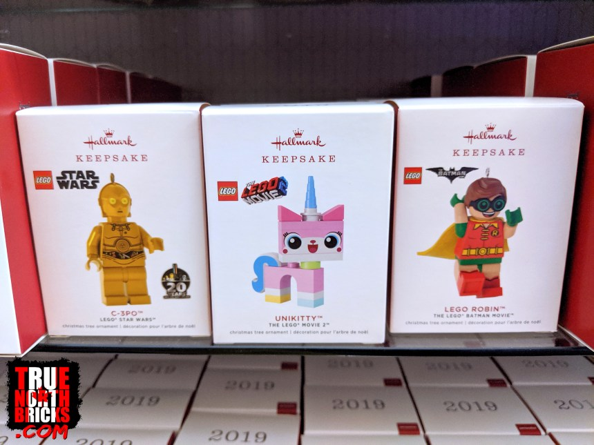 Hallmark's 2019 LEGO® ornament selection.
