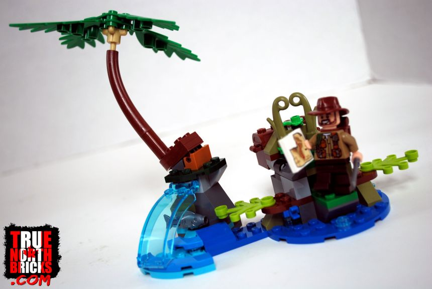 The jungle scene from Baryonyx Face-Off (75935).