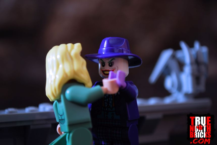 Vicki Vale and Joker Minifigures from the 1989 Batmobile (76139) set.