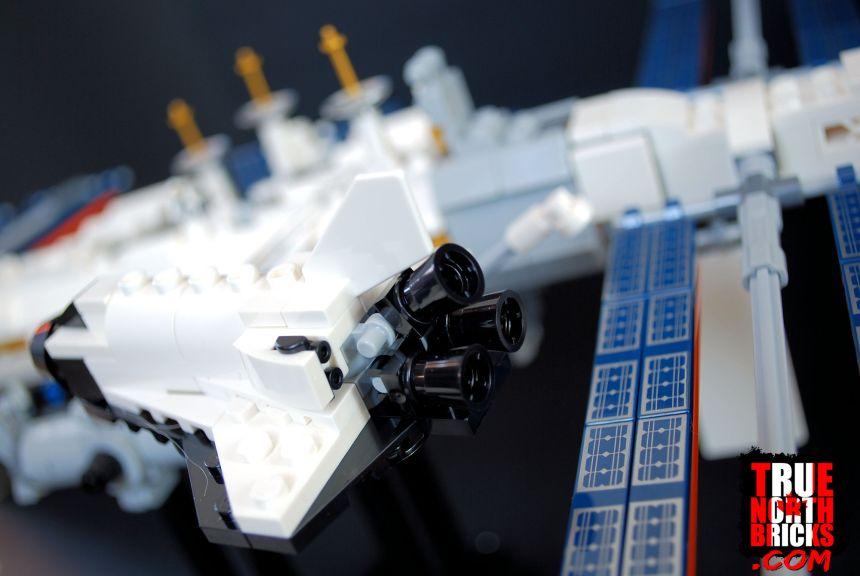 Rear view of shuttle.