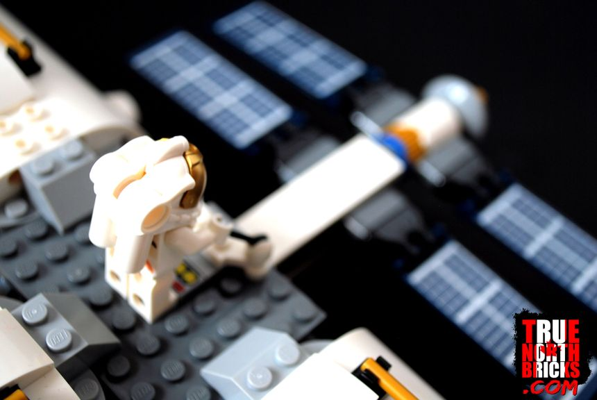 Solar panel and satellite controls on the Lunar Space Station (60227).