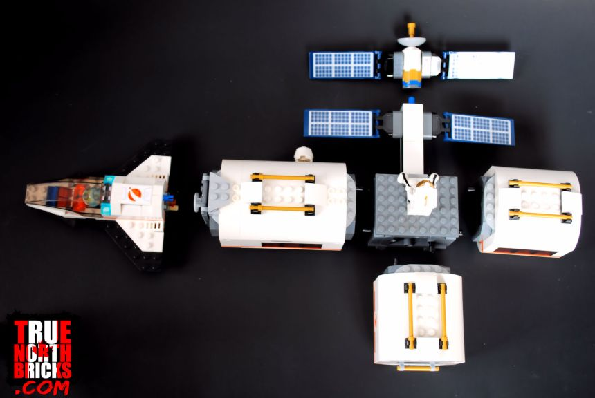 Separated modules of the Lunar Space Station (60227).