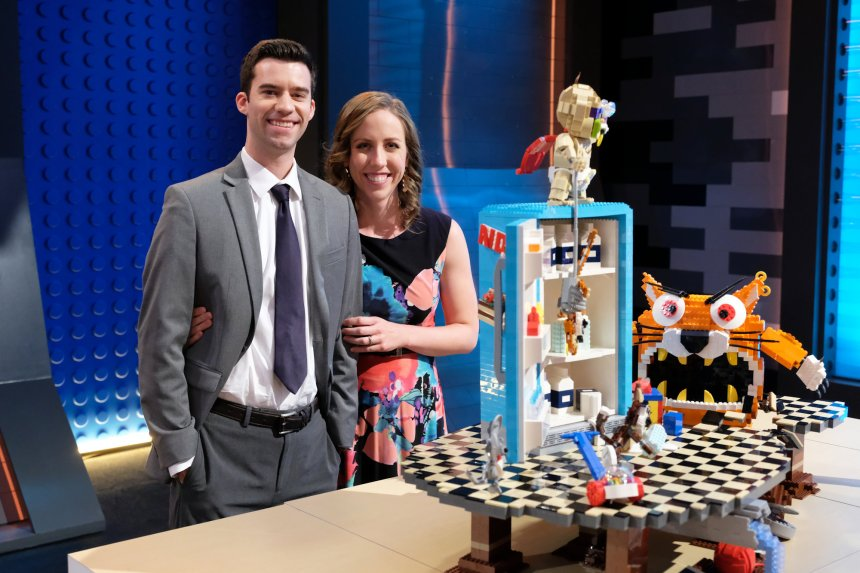 Tyler, Amy and Meowster came in second place in the Movie Genres (LEGO® Masters) challenge (©2020 FOX MEDIA LLC. CR: Ray Mickshaw/FOX).