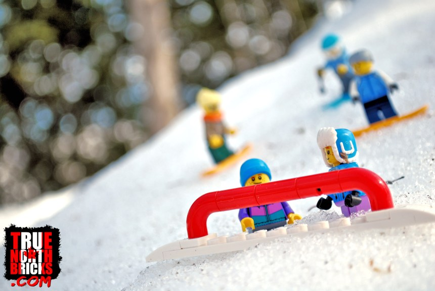 Minifigures on the slopes.