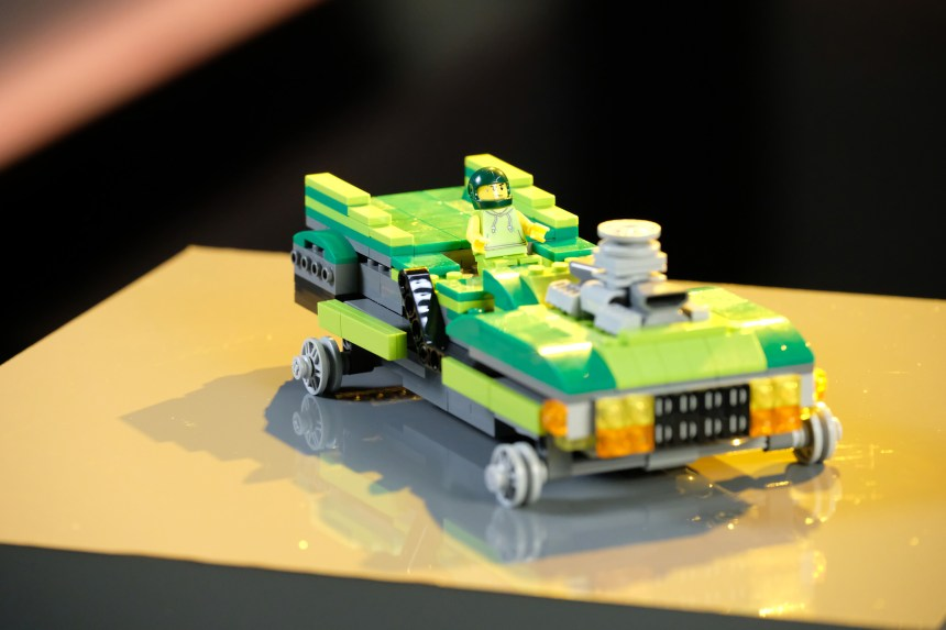 Green Machine/Lime Time racer from the Need for Speed precursor to building Super Bridges.