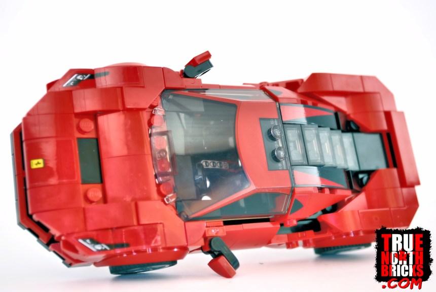 Ferrari F8 Tributo overhead view.