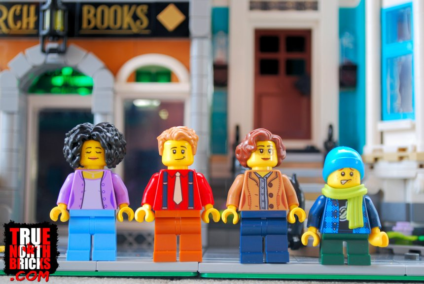 Alternate faces of Minifigures in the Bookshop (10270) set.