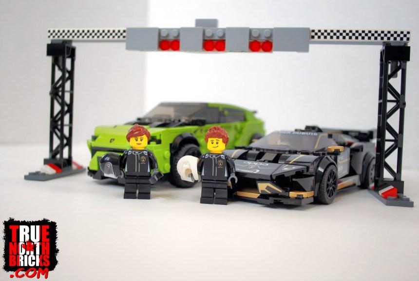 LEGO® Lamborghini box contents.