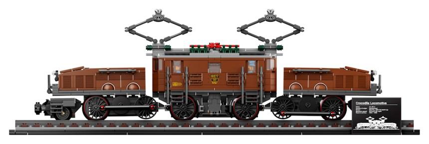 Crocodile Locomotive (10277) side view.