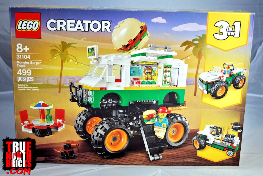 Monster Burger Truck (31104) front box art.