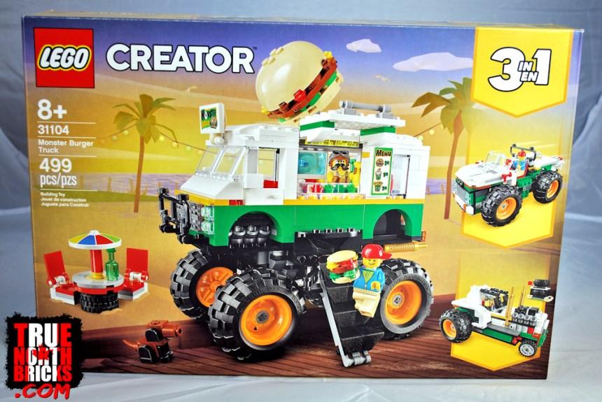 Monster Burger Truck (31104) front box art.
