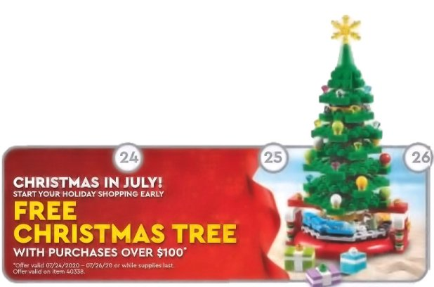 July 2020 Christmas in July promotion.