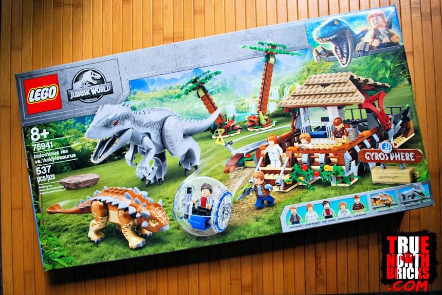 Indominus rex VS Ankylosaurus box art