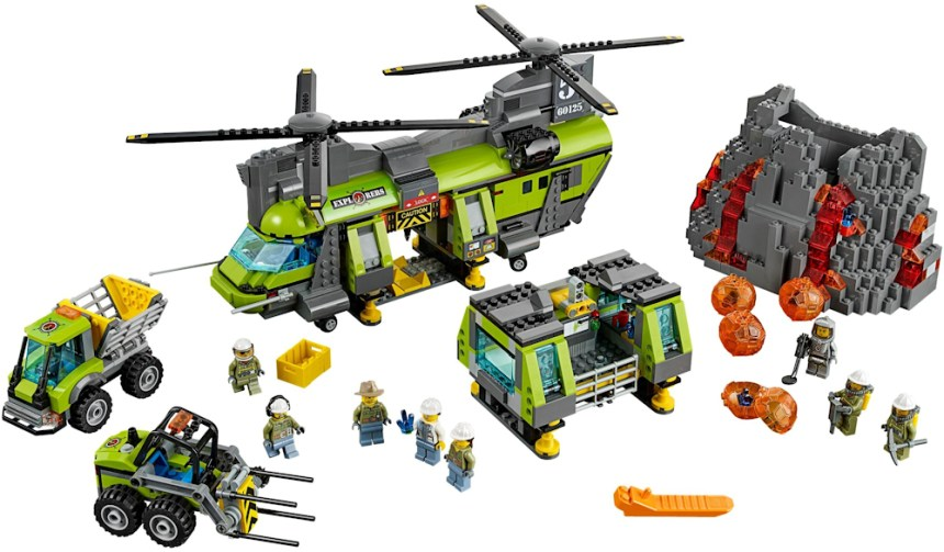 Top 10 biggest City sets: Volcano Heavy Lift Helicopter