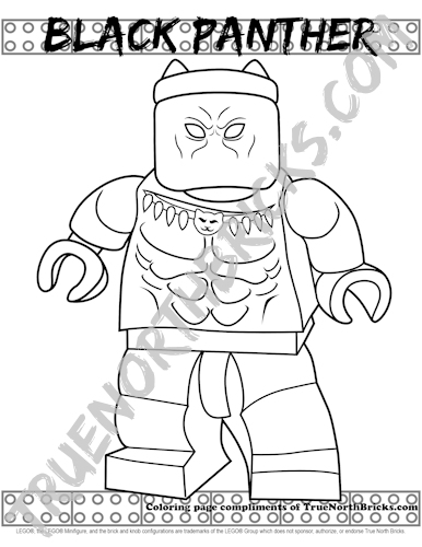Minifigure Monday: Black Panther coloring page sample.