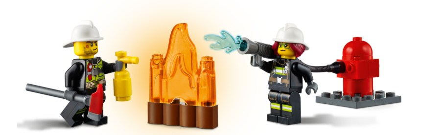 January 2021 City Sets: Fire Ladder Truck Minifigures