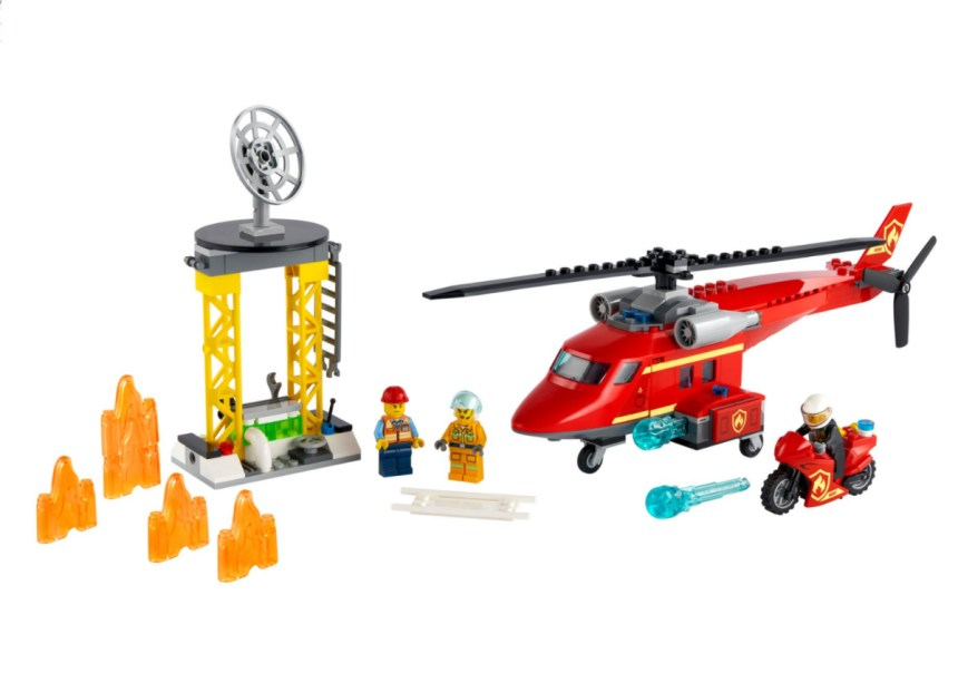 January 2021 City sets: Fire Rescue Helicopter