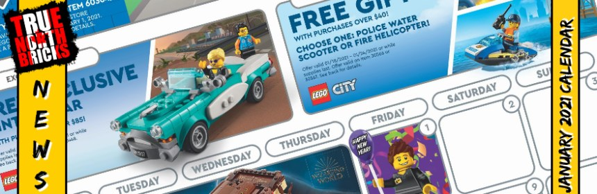 January 2021 Calendar from the LEGO® Store   True North Bricks