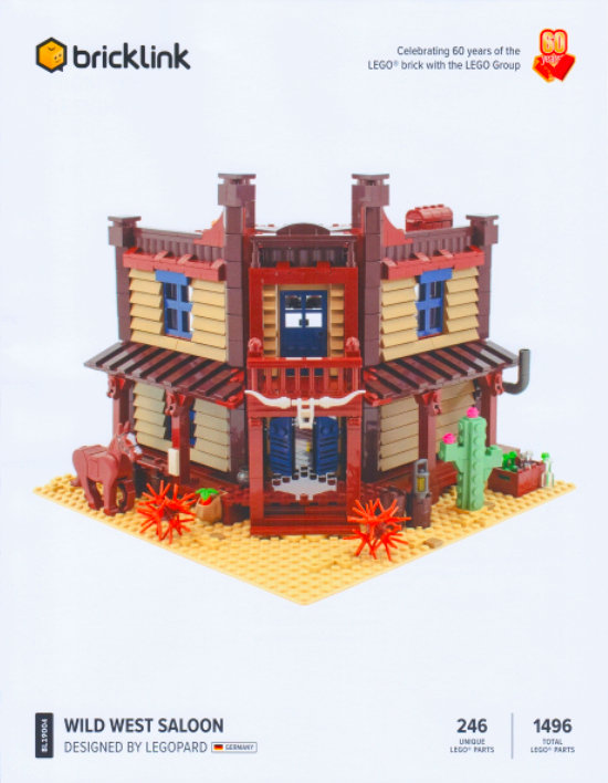Past Bricklnk Designer Program set: Wild West Saloon.