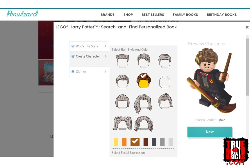 Penwizard LEGO® Search and Find character design.
