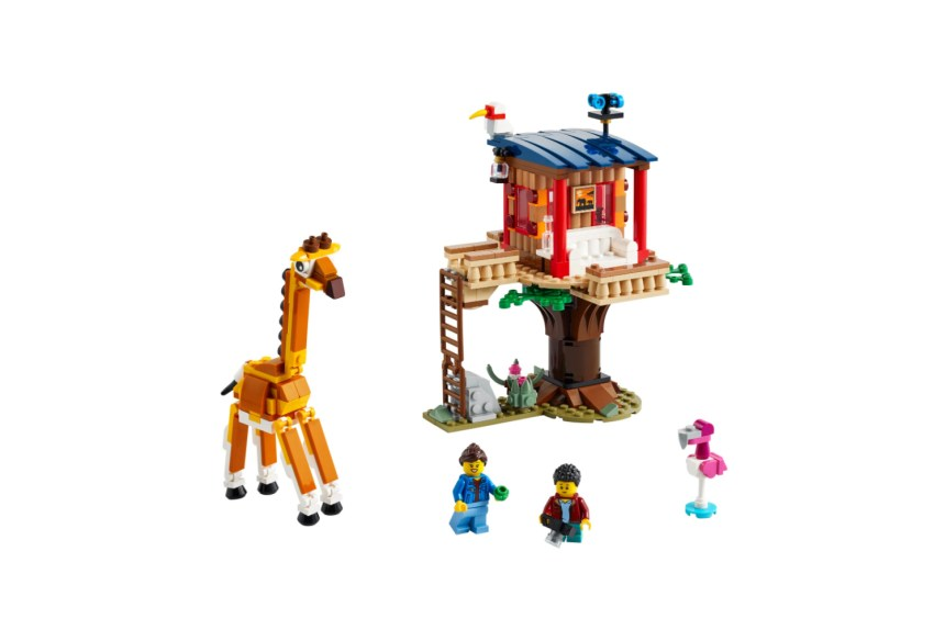 March 2021 Creator Sets: Safari Wildlife Tree House
