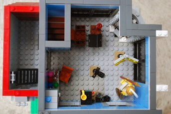 The floor plan of my LEGO Photographer's Studio.