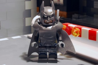LEGO Batman, armoured front view.