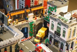 MOC LEGO Store warehouse entry.