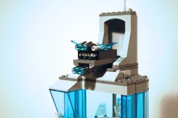 LEGO Avengers Towers drone launch feature.