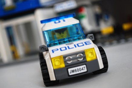 LEGO 60047 police car front view.