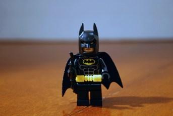 LEGO Batman angry.