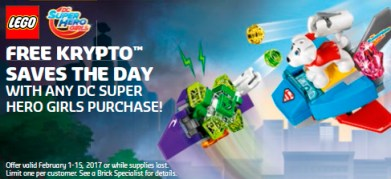 Free with any DC Super Hero Girls LEGO purchase.
