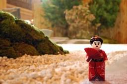 LEGO Geisha attending Japan Week at Grand Central Terminal.