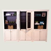 3 Tall Bookcase with 2 Doors | True North