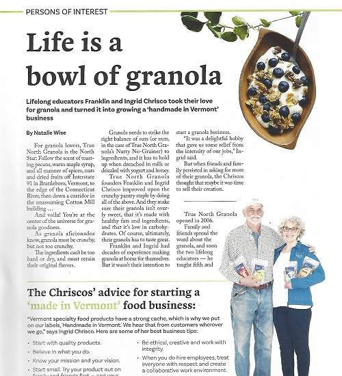 UpCountry Magazine Article on True North Granola