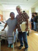 Dr. Manuel Avila with a patient