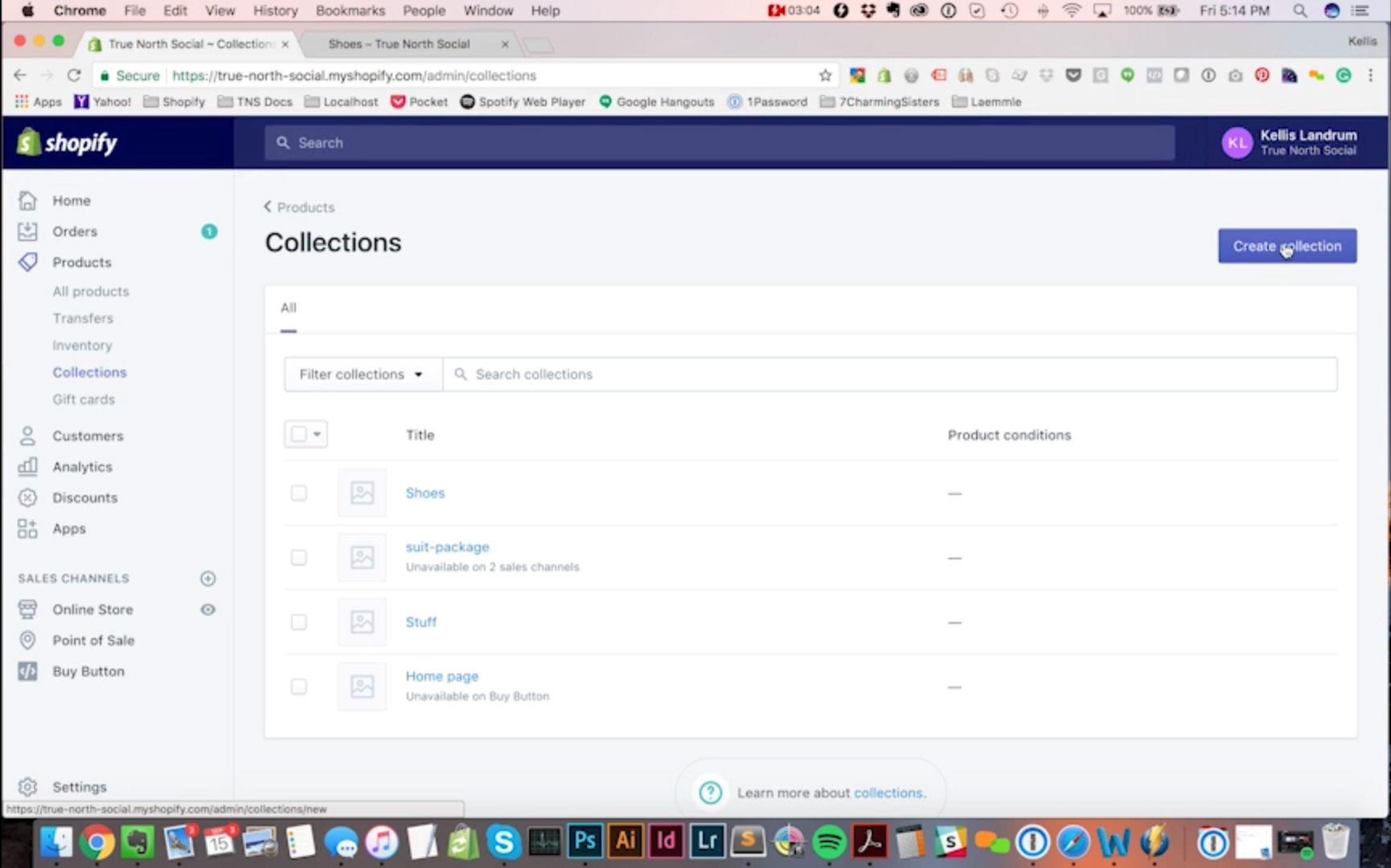 How To Create Collections in Shopify - Video Tutorial - True North
