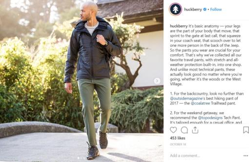 huckberry instagram advertisement