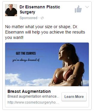 plastic surgeon facebok ads